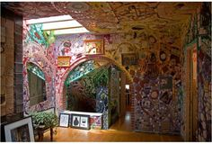 House of Isaiah Zagar  The amazing mosaicist who decorated hundreds of homes and storefronts inPhiladelphia.