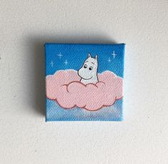 Art Welcome to Yume the cat New diecut in my Etsy shop «LaznyeCreaShop Simple Canvas Paintings, Small Canvas Art, Easy Canvas Painting, Mini Canvas Art, Cute Paintings, Small Paintings, Empty Canvas, Popular Paintings, Portrait Paintings