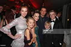 Actress Annalise Basso, actress Shree Crooks, actress Samantha Isler, actor Orlando Bloom, actor Charlie Shotwell and actor Nicholas Hamilton attend Sierra Affinity's Captain Fantastic Cocktail Party at Nikki Beach Carlton Beach Club on May 17, 2016 in Cannes, France.