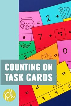 Add these Counting On strategy cards to your math small groups and Guided Math centers! Low prep addition visuals from Positively Learning Blog #mathcenters #counting #guidedmath