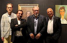 """Bruno Albertino,Alberto D'Atanasio,Luciano Renzi,Franco Sensi alla mostra """"Modigliani e l'art nègre"""" Spoleto"""