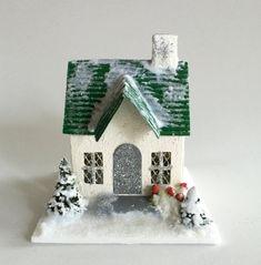Putz Glitter House by TeddyLineGermany on Etsy