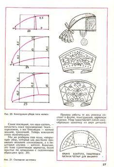 "Kokoshnik (and/or ochipok) patterns. This is one particular sort of kokoshnik - obv. not the famous ""fan"" type..."