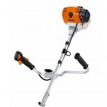 Stihl KM 130 4-Mix petrol KombiEngine with bike handle.