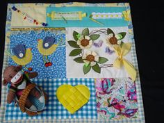 Crafty Lady- Fidget Quilt- Tactile - Bright & Colorful- Fun for Alzhiemer Patients