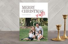 Merry Christmas, y'all! Holiday Photo Cards by Ann Gardner | Minted.com