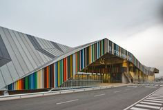 Mercabarna-Flor - Barcelona, Spain;  a wholesale flower market;  designed by Willy Muller Architects