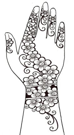 Art Therapy coloring page Arab World : Henna tattoo 4 Henna Tattoos, Mehndi Tattoo, Henna Tattoo Designs, Henna Mehndi, Henna Art, Mehendi, Hand Henna, Mehndi Designs Book, Mehndi Design Photos
