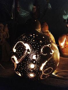 Luminária de cabaça