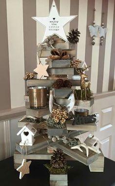 Houten kerstboom van de action