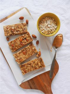 Peanut Butter Almond Granola Bars