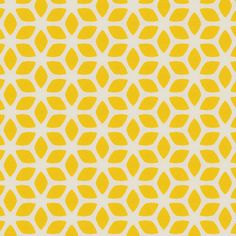 butter yellow geometric flowers