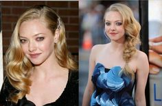 Side swept hairstyle by Amanda Seyfried. Doesn't she look lovely :)