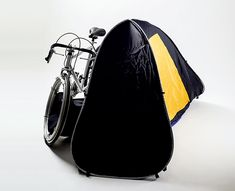 The tent packs into the wheel of the bike! By Chung-Jung Wu, Pei-Chun Chen & Li-Fu Chen