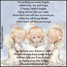 Sending You Some Angels love! How lovely! Thank you dear Cynthia J. You're so sweet. Angel Quotes, Song Quotes, Life Quotes, Pomes, Prayers For Children, Angel Prayers, I Believe In Angels, Angel Pictures, Angels Among Us