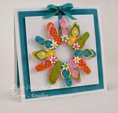 Flip flop wreath card