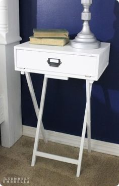 TV Tray to Campaign Nightstand | Knock Off Decor | Bloglovin'