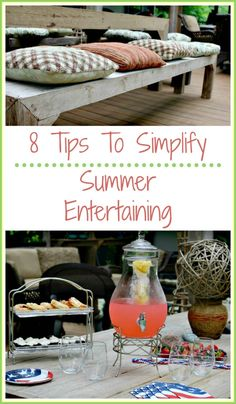 8 Easy Tips To Simplify Summer Entertaining