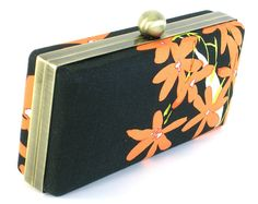 Black and Orange Floral Clutch Dressing Case BagBoy by BagBoy, $50.00