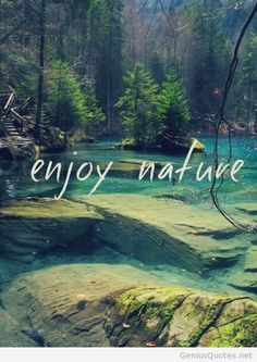 Enjoy narure image awesome quote
