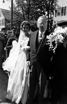 <b>Not published in LIFE.</b> John F. Kennedy, Jacqueline Bouvier marry, Newport, R.I., Sept. 12, 1953.