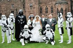 StarWars Wedding - If I could get away with it I would so do this!
