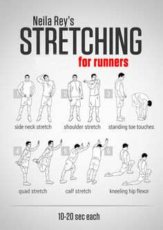 Don't forget to stretch before you run!