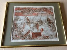 """Jesse Warford """"Forest According to Jesse"""" Limited Edition Etching Print, Framed #Abstract"""