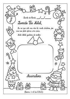 carta pai natal imprimir - Pesquisa Google                                                                                                                                                                                 Mais