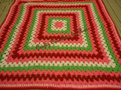 Ready to Ship Granny Square Crochet Baby blanket Hand by CCBR2014