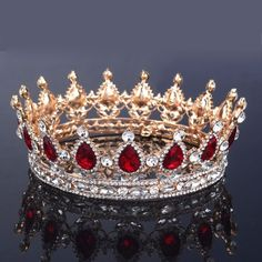 Find More Hair Jewelry Information about 2015 New Fashion Bridal Accessories Wedding Hair Tiara King Crown Rhinestone Full Round Pageant Crowns tocados de novia tiaras,High Quality crown lift,China tiara veil Suppliers, Cheap tiara hair from Helay Bridal on Aliexpress.com