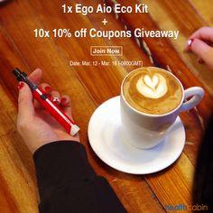 Help me to win #Joyetech Ego Aio Eco, thanks to @HealthCabin