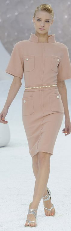 The sleeves need to be taken in...  Chanel ● Spring 2012~Timeless style and love the muted baby blush pink.