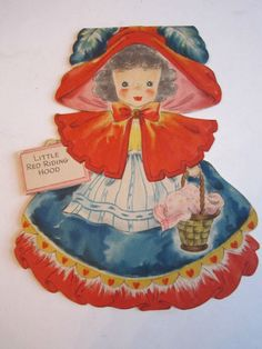 Little Red Riding Hood Vintage Greeting Card Land of Make Believe No. 5 Doll Card by Hallmark Vintage Birthday Cards, Vintage Greeting Cards, Little Bo Peep, Little Red, Hallmark Cards, Decoupage Vintage, Get Well Cards, Vintage Images, Vintage Pictures