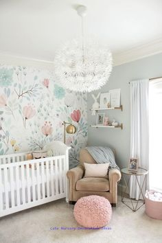 Girl Nursery Ideas - Bring your child girl house to a charming and functional nursery. Here are some infant girl nursery design ideas for all of your style, bedding, and also furnishings . Baby Bedroom, Baby Room Decor, Nursery Room, Girl Nursery, Girls Bedroom, Trendy Bedroom, Room Baby, Child Room, Girl Rooms