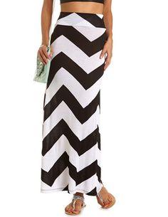 Chevron Stripe Maxi Skirt: Charlotte Russe