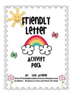Spring themed friendly letter writing pack for first/second grades.  Includes:1.  Friendly letter mini-poster2.  Friendly letter writing template (color and black & white)3.  Friendly letter cut/glue activity sheetFor more ideas and lots of freebies, visit my blog Live Laugh and Love to LearnGraphics courtesy of Goodness & Fun and From the Pond