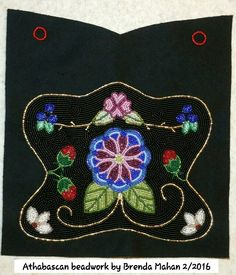 """Athabascan firebag, side 1, 8-1/2"""" x 11"""" by Brenda Mahan from Galena, AK"""