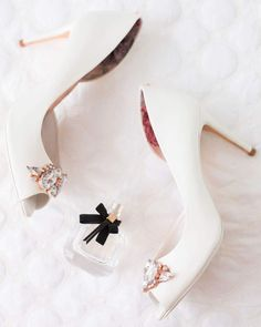 When details make your wedding day stand out! These gorgeous bridal shoes beautifully captured by photography will keep you reminiscing for the days to come. Photographer: Wedding dress: Wedding shoes: Groom suit: Groom shoes: Location: www. Bridal Shoes, Wedding Shoes, Wedding Dresses, Ted Baker Shoes, Groom Shoes, Happy Tears, Bride Look, Fall Wedding, In This Moment
