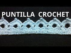 Puntilla N° 38 en tejido crochet tutorial paso a paso. - YouTube