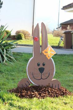 Déco Pâques en sajex récup #paques www.pinterest.com/fleurysylvie