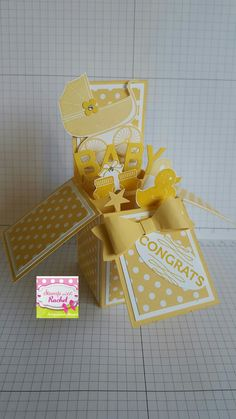 Stampin up card in a box baby card i made. My original design.
