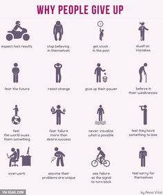 Why people give up Life Skills, Life Lessons, Change Management, Self Improvement Tips, Psychology Facts, Why People, Study Tips, Self Development, Personal Development