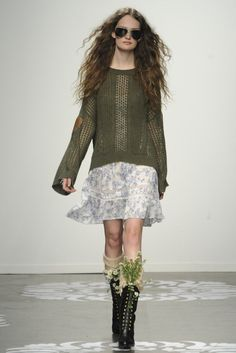 Crocheted Couture Collections : Vivienne Tam Fall 2014 Ready-to-Wear