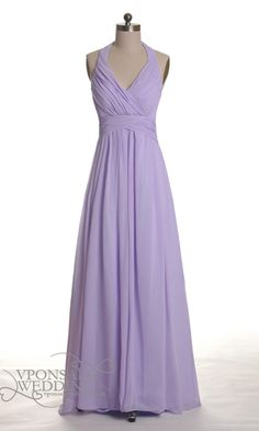 Long Halter Lavender Bridesmaid Gown DVW0030   VPonsale Wedding Custom Dresses