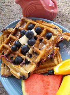 Waffle Week: Blueberry Buttermilk Waffles