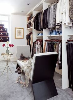 Nina Garcia's NYC incredible dressing room and closet.