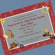 Cowboy Baby Shower Invite