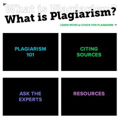 Use these resources to teach students about Plagiarism.