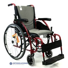 Silla Karma S-ECO 125, diseñada con reposabrazos abatibles, reposapies abatibles y desmontables. Con asiento S-ergo, Respaldo partido para facilitar el traslado. Silla ligera de aluminio.